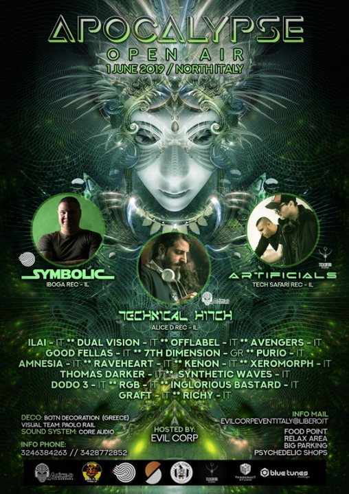 Apocalypse Open Air w/ Symbolic / Technical Hitch / Artificials 1 Jun '19, 18:00