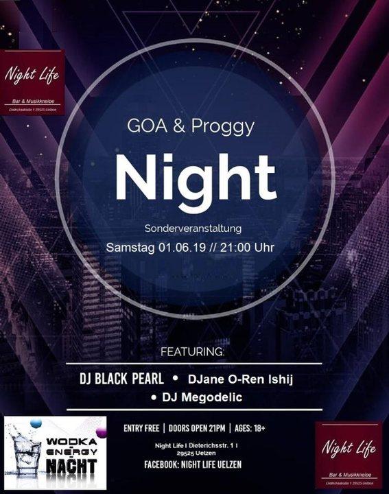 Goa & Proggy Night 3Dj´s im Night Life 1 Jun '19, 21:00