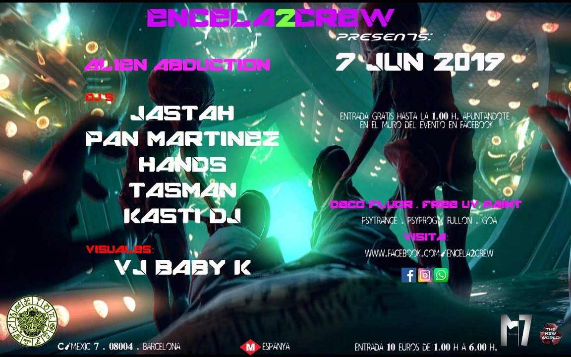 ENCELA2CREW PRESENTS: ALIEN ABDUCTION 7 Jun '19, 23:30