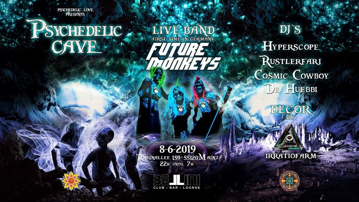 Future Monkeys Psytrance Live Band and other great DJs ॐ 8 Jun '19, 22:00