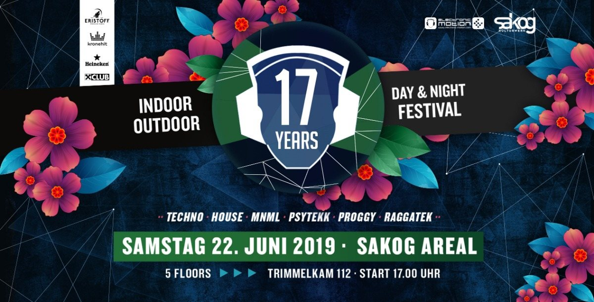 17 Years Electronic Motion · SAKOG Areal 22 Jun '19, 17:00