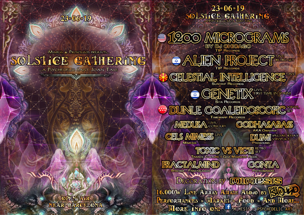 Solstice Gathering 2019 - A Psychedelic Sant Joan Tale 23 Jun '19, 18:00
