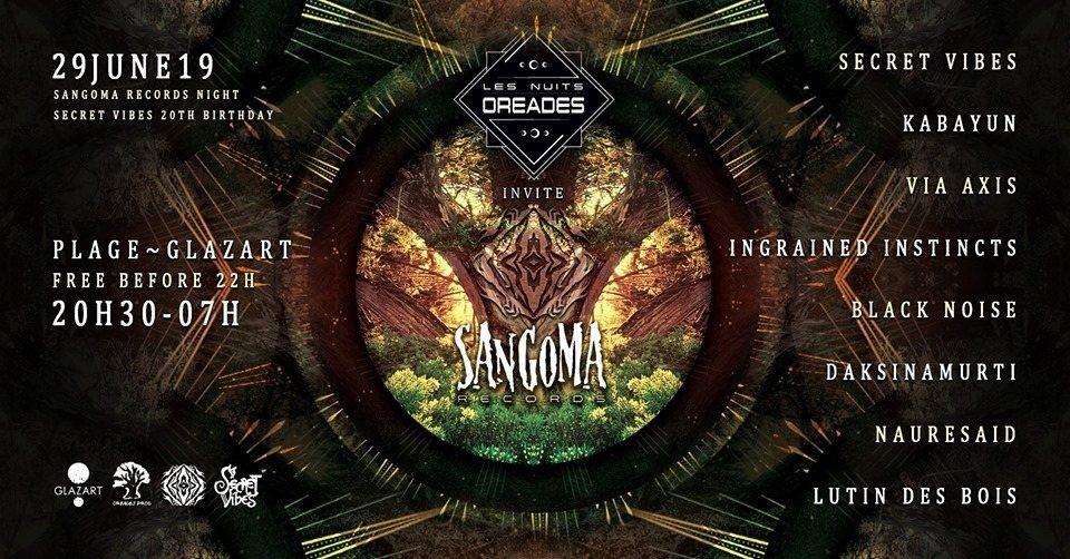 Sangoma night and Secret Vibes 20th anniversary 29 Jun '19, 20:30