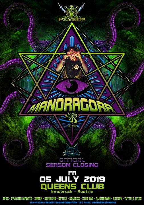 Psybox - Season Closing with Mandragora 5 Jul '19, 22:00