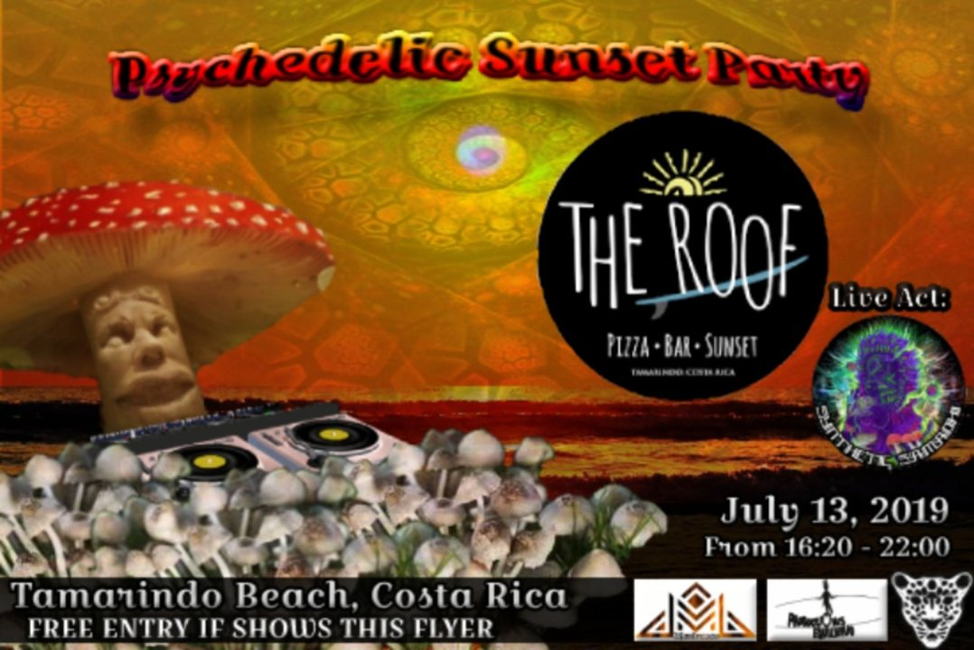 Psychedelic Sunset Party. The Roof Restaurant. Tamarindo Beach 13 Jul '19, 16:00