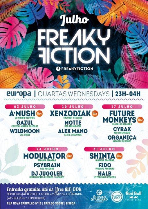 FREAKY FICTION 17 Jul '19, 23:00