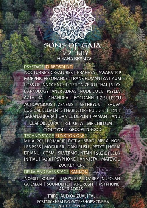 Sons Of Gaia Festival chapter VI 19 Jul '19, 16:00