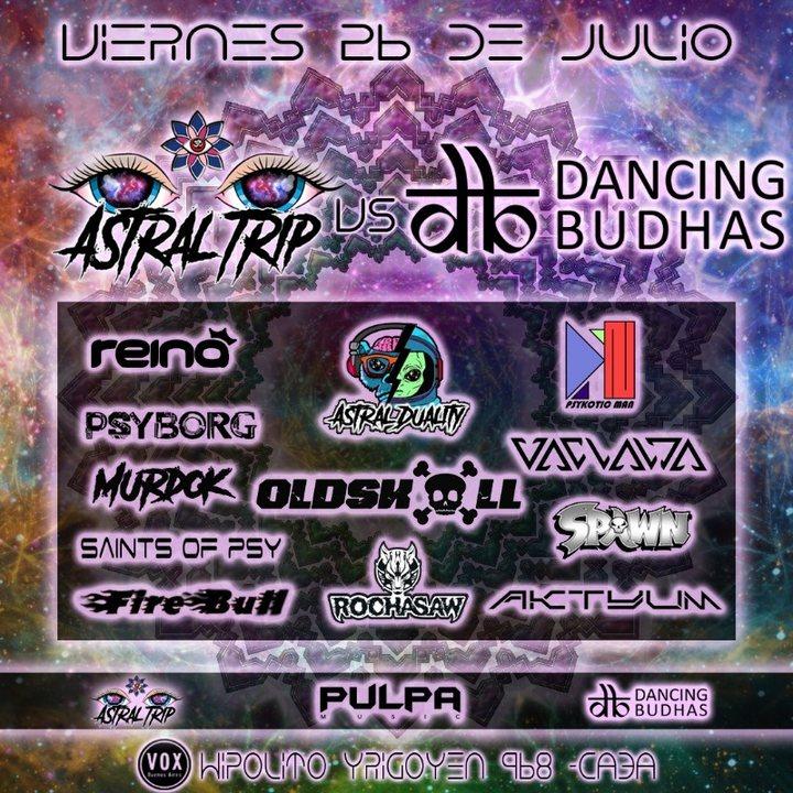 Dancing Budhas Vs Astral trip 26 Jul '19, 23:30