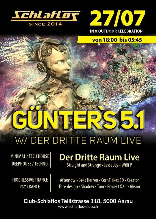 Günter`s 5.1 W/ Der Dritte Raum Live 27 Jul '19, 18:00