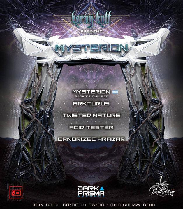 Karny Kult Presents : Mysterion & Will O Wisp (Dark Prisma Records) 27 Jul '19, 19:00