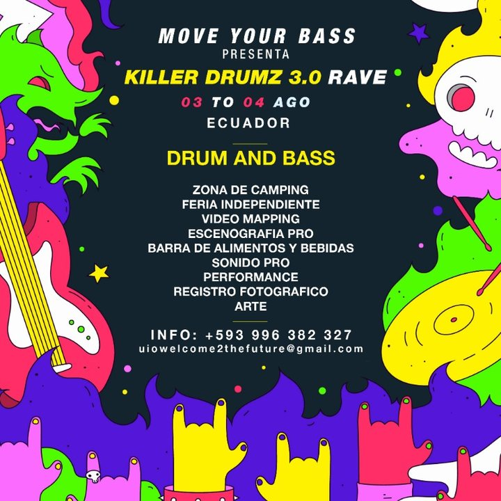 KILLER DRUMZ EC - RAVE 24 HRS - DRUM AND BASS 3 Aug '19, 16:00