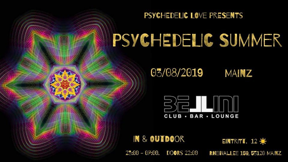 PSYCHEDELIC SUMMER 2019 3 Aug '19, 22:00