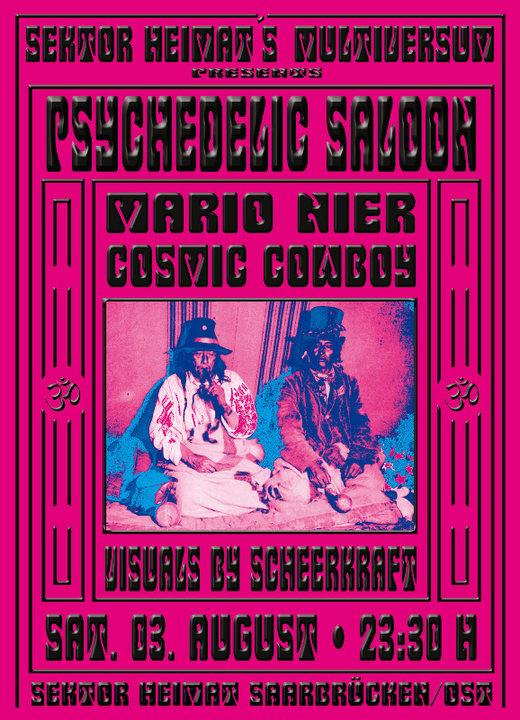 Psychedelic Saloon @ Sektor Heimat 3 Aug '19, 23:30