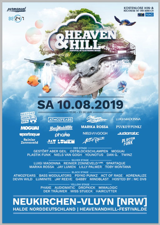 Heaven & Hill Festival 10 Aug '19, 12:00
