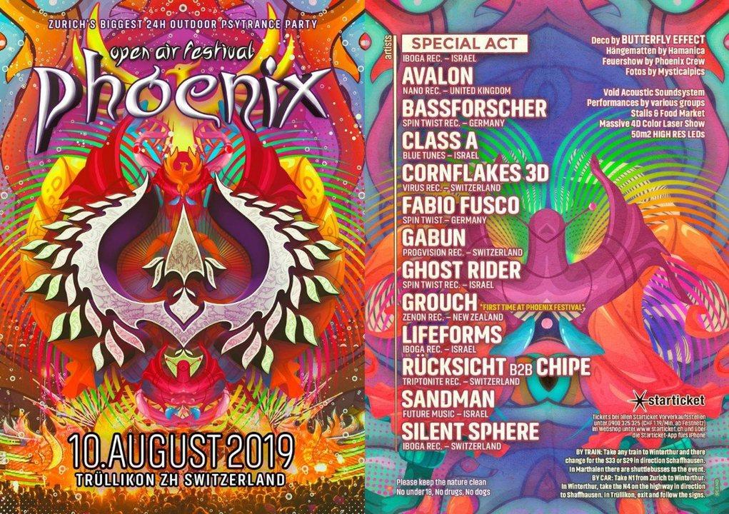 Phoenix Festival 2019 - Die grösste Outdoor Afterparade Party 10 Aug '19, 12:00