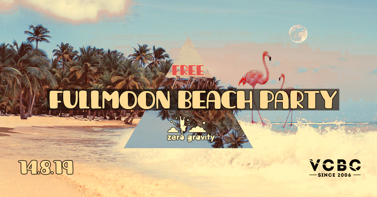 Free Fullmoon Beach Party 14 Aug '19, 17:00