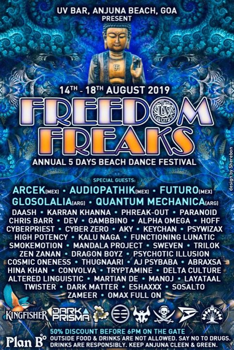 FREEDOM FREAKS 2019 EDITION 14 Aug '19, 18:00