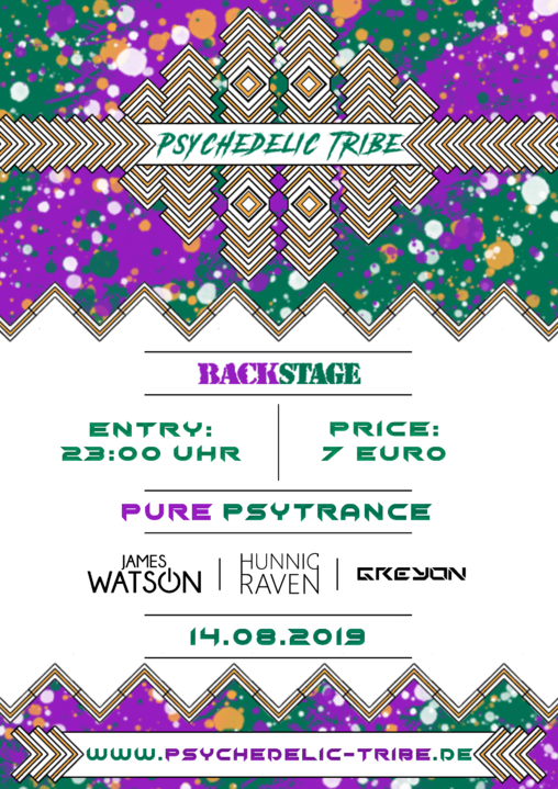 Psychedelic Tribe / Night of Drinks Sommerfest / Backstage München 14 Aug '19, 23:00
