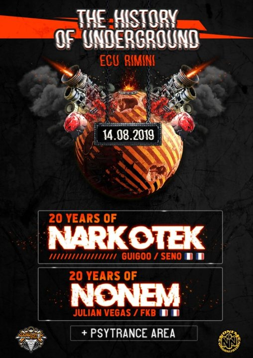 THE HISTORY OF UNDERGROUND Tekno+Psytrance party (Full Moon Open Air) 14 Aug '19, 21:00