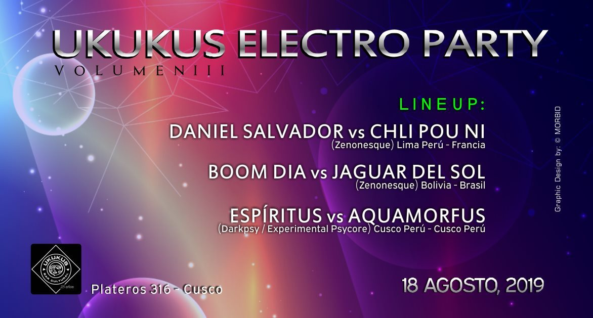 Ukukus Electro Party Volume III 18 Aug '19, 22:00