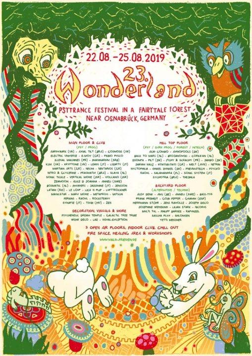 Waldfrieden Wonderland Festival 2019 22 Aug '19, 12:00