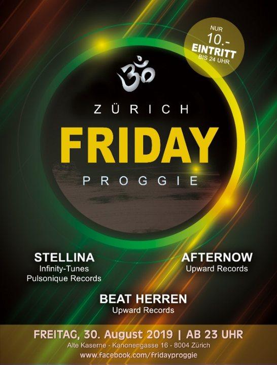 Friday Proggie - Edition alte Kaserne Zürich 30 Aug '19, 23:00