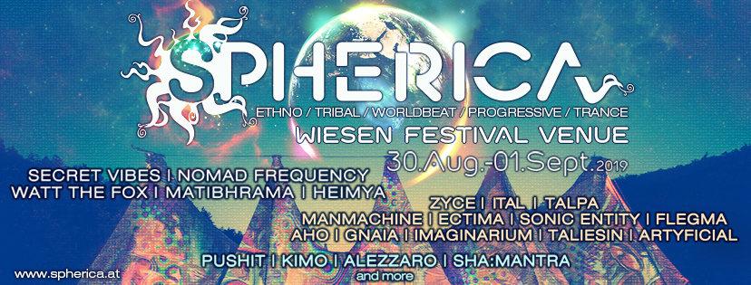 SPHERICA Festival 2019 30 Aug '19, 15:00