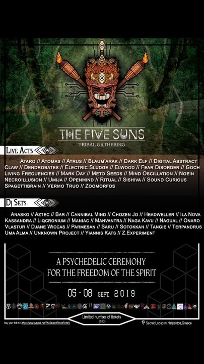 THE FIVE SUNS GATHERING 5 Sep '19, 19:00