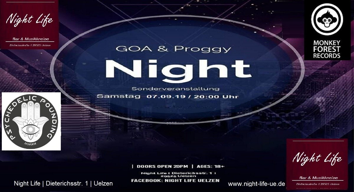 Psychedelic Pounding-Goa&Proggy Night feat 2.Monkey Forest DJ's 7 Sep '19, 20:00
