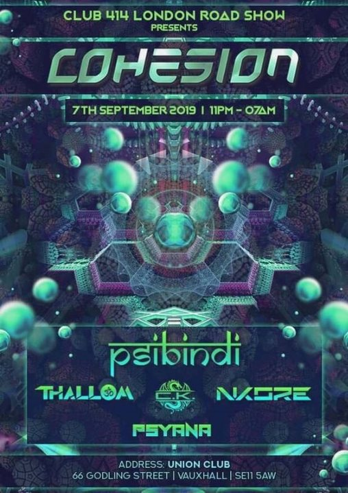 The Club 414 Road Show Presents (Cohesion) 7 Sep '19, 23:00