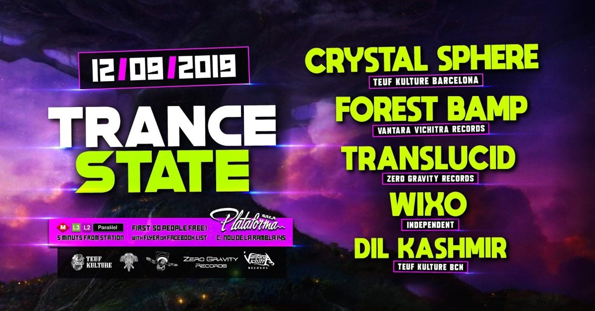 Trance State 12 Sep '19, 23:30