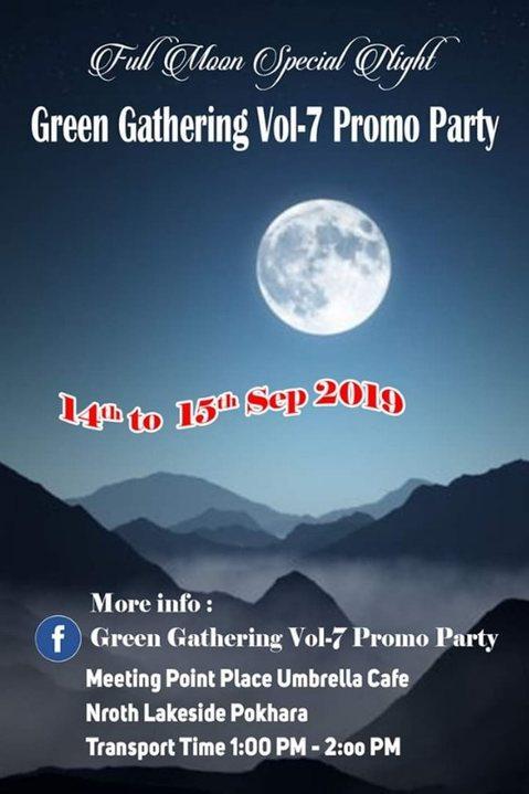 Green Gathering Vol-7 Promo Party 14 Sep '19, 01:00