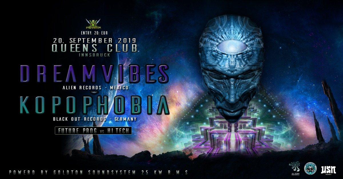 Psybox pres. Dreamvibes & Kopophobia - Future Prog vs Hi Tech 20 Sep '19, 22:00