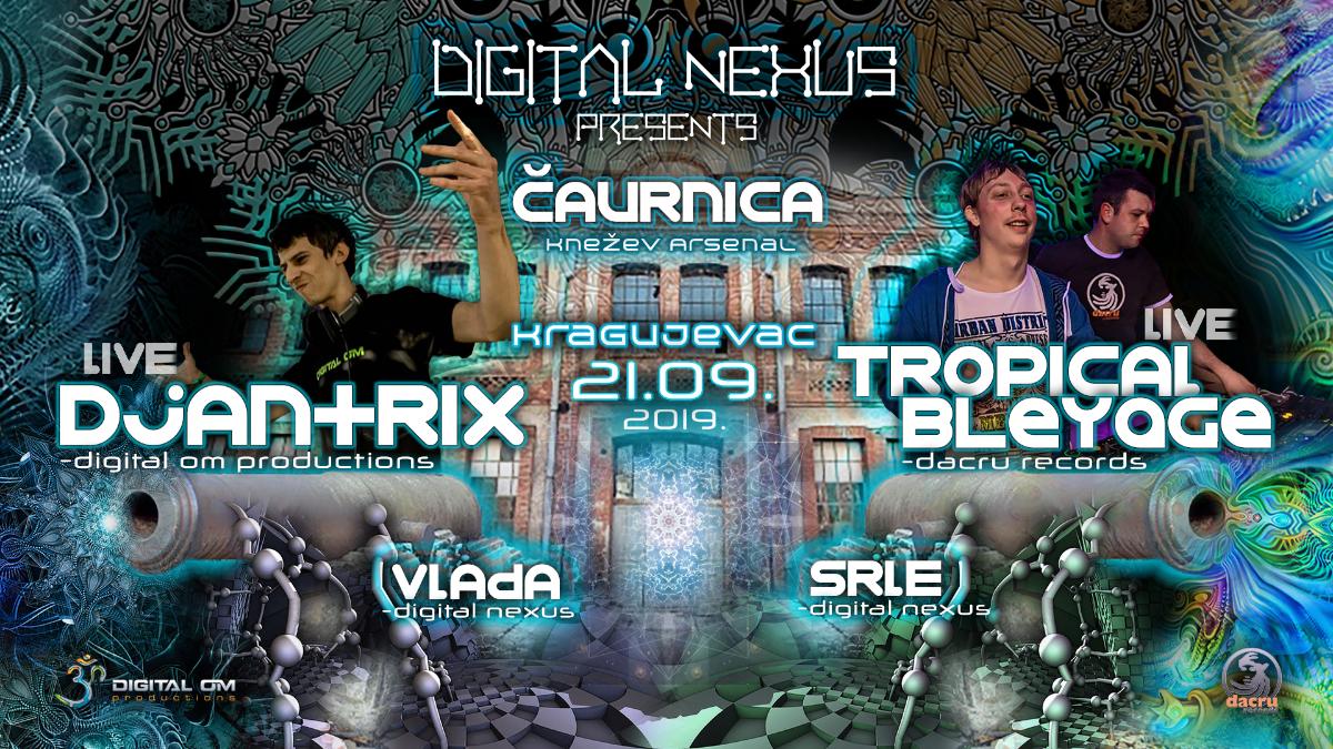 Djantrix & Tropical Bleyage@Kragujevac,Serbia 21 Sep '19, 22:00