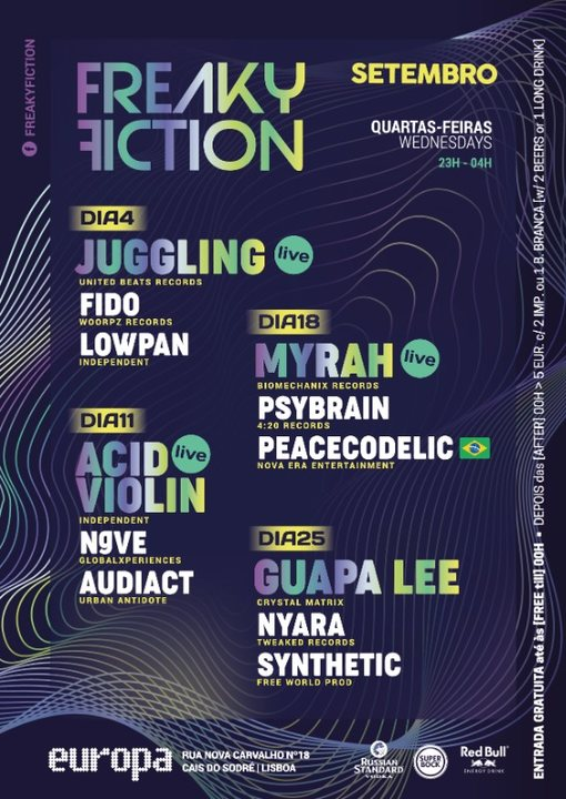 FREAKY FICTION 25 Sep '19, 23:00