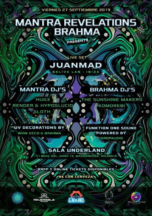 Mantra Revelations & Brahma presents: JUANMAD live! 27 Sep '19, 23:00