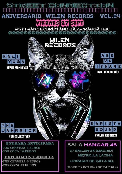 Street Connection vol.24 Aniversario Wilen Records 27 Sep '19, 23:30