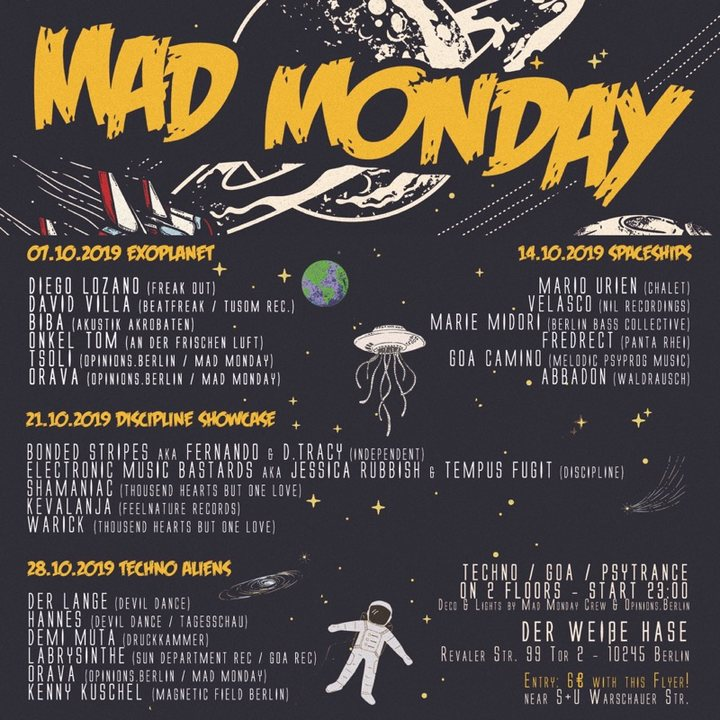 Mad Monday presents Exoplanet 7 Oct '19, 23:00