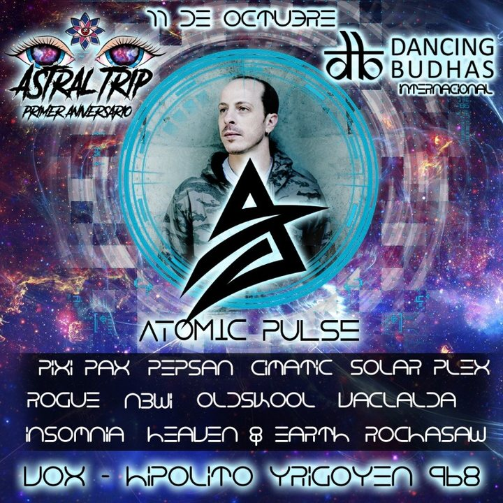 Atomic Pulse (Israel) in Buenos Aires 11 Oct '19, 23:30