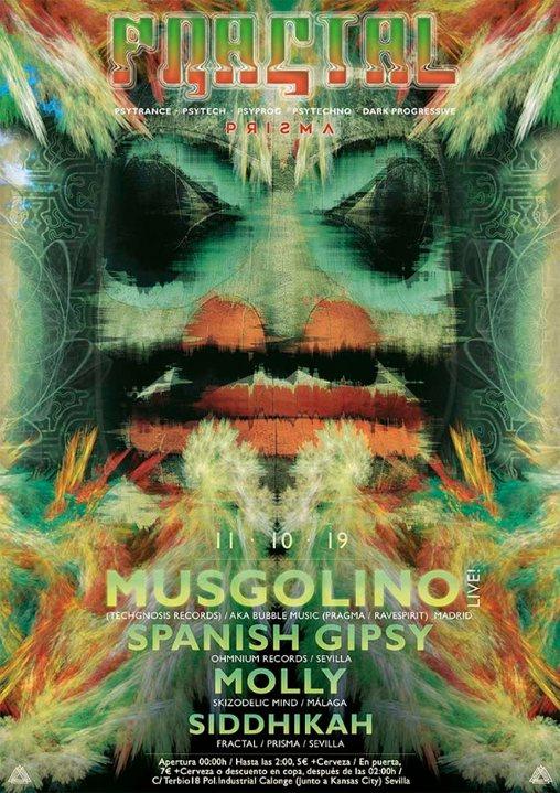 Fractal presents. Musgolino Live! (Techgnosis Records) 11 Oct '19, 23:30