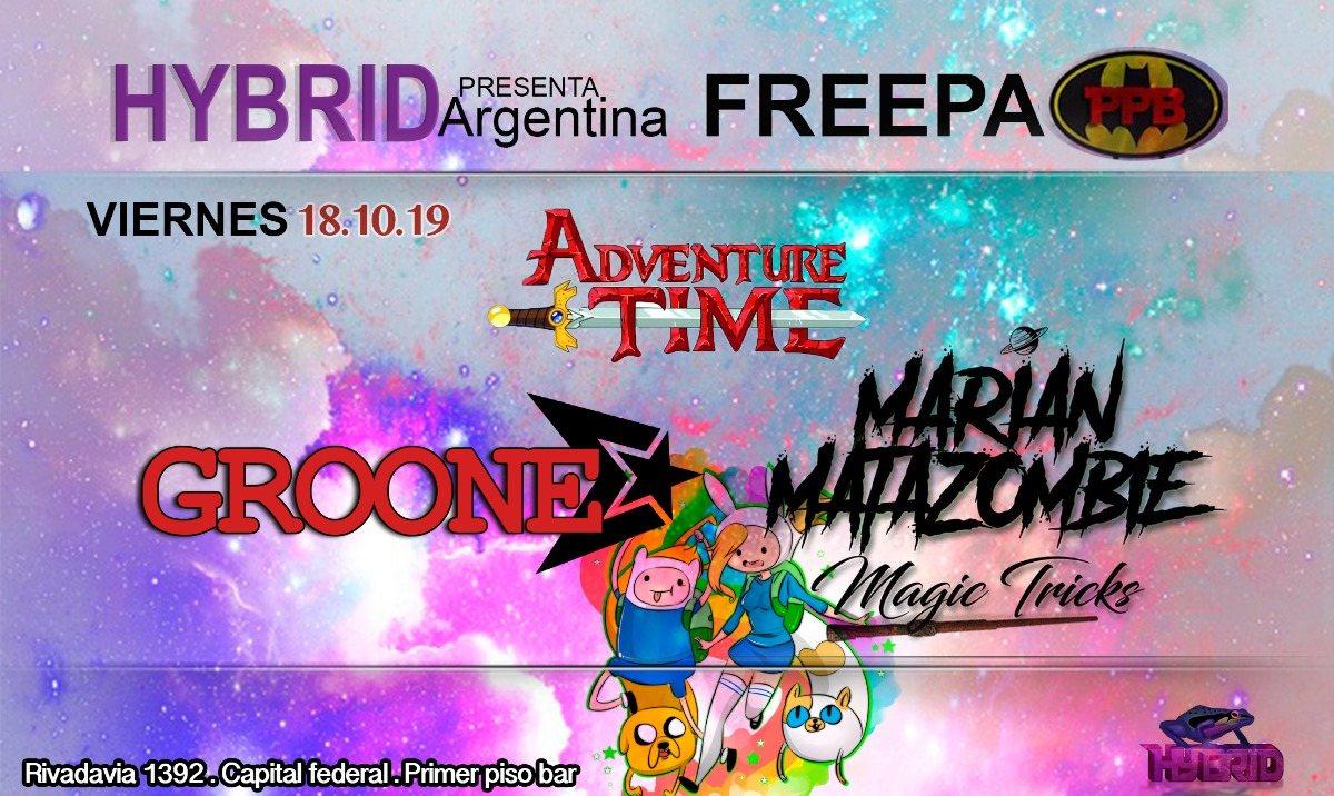 Psytrance night at PPB // Hybrid Argentina 18 Oct '19, 22:00