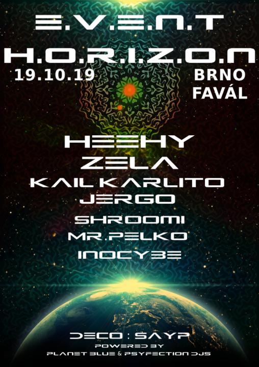 Event Horizon 19 Oct '19, 21:00