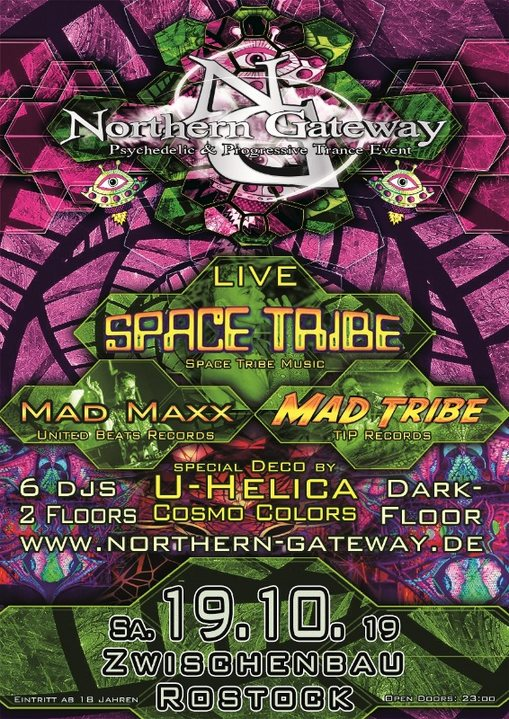 Northern Gateway - Space Tribe, Mad Maxx & Mad Tribe + Darkfloor 19 Oct '19, 23:00