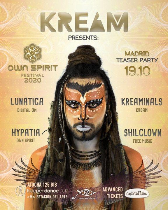Own Spirit Festival 2020 Teaser Party by KREAM 19 Oct '19, 23:30