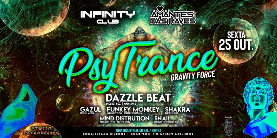 Hamsá Psytrybo & Infinity Club - PsyTrance . GravityForce 25 Oct '19, 23:30