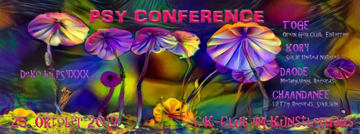 Psy Conference 25 Oct '19, 22:00