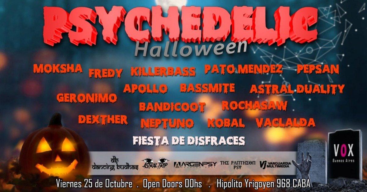 Psychedelic Halloween 25 Oct '19, 23:30