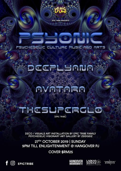 EPIC Tribe pres. PSYONIC 27 Oct '19, 21:00