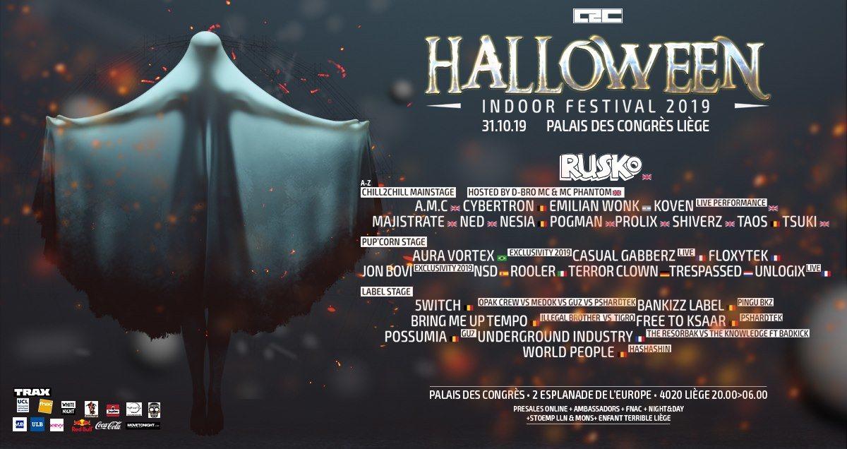 Chill2Chill halloween indoor festival 2019 31 Oct '19, 20:00