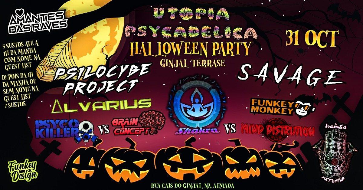 ॐHamsá PsyTrybo & Utopia Psycadelicaॐ Halloween Special Night ॐ 31 Oct '19, 23:00